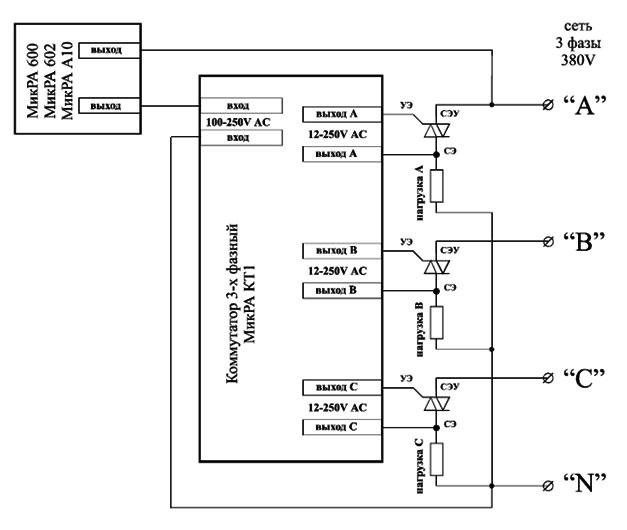 Схема подключения коммутатора