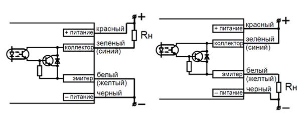 Схемы подключения фотодатчика