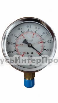 Вакууметр глицериновий торцевой O=63 g1/4