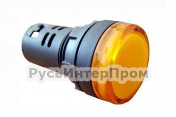 Фото арматуры светосигнальной AD22-22DS желтой 24 В AC/DC