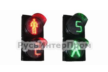 Светофоры пешеходные с отсчетом времени П 1.1.ТВЧ1-01-АТ и П 1.2..ТВЧ2-01-АТ фото1